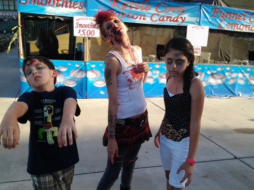 Zombie Apocalypse At The 66ers' Game